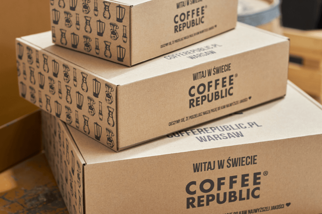 coffee boxes with logo
