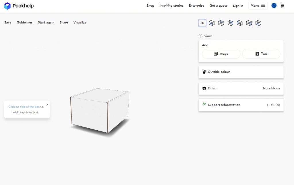 How To Create A Box Online With Packhelp Design Packaging Online