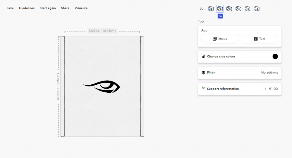 creare packaging editor online packhelp