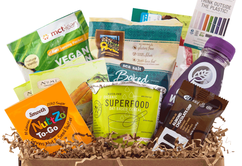 vegan cuts caja de carton con dulces