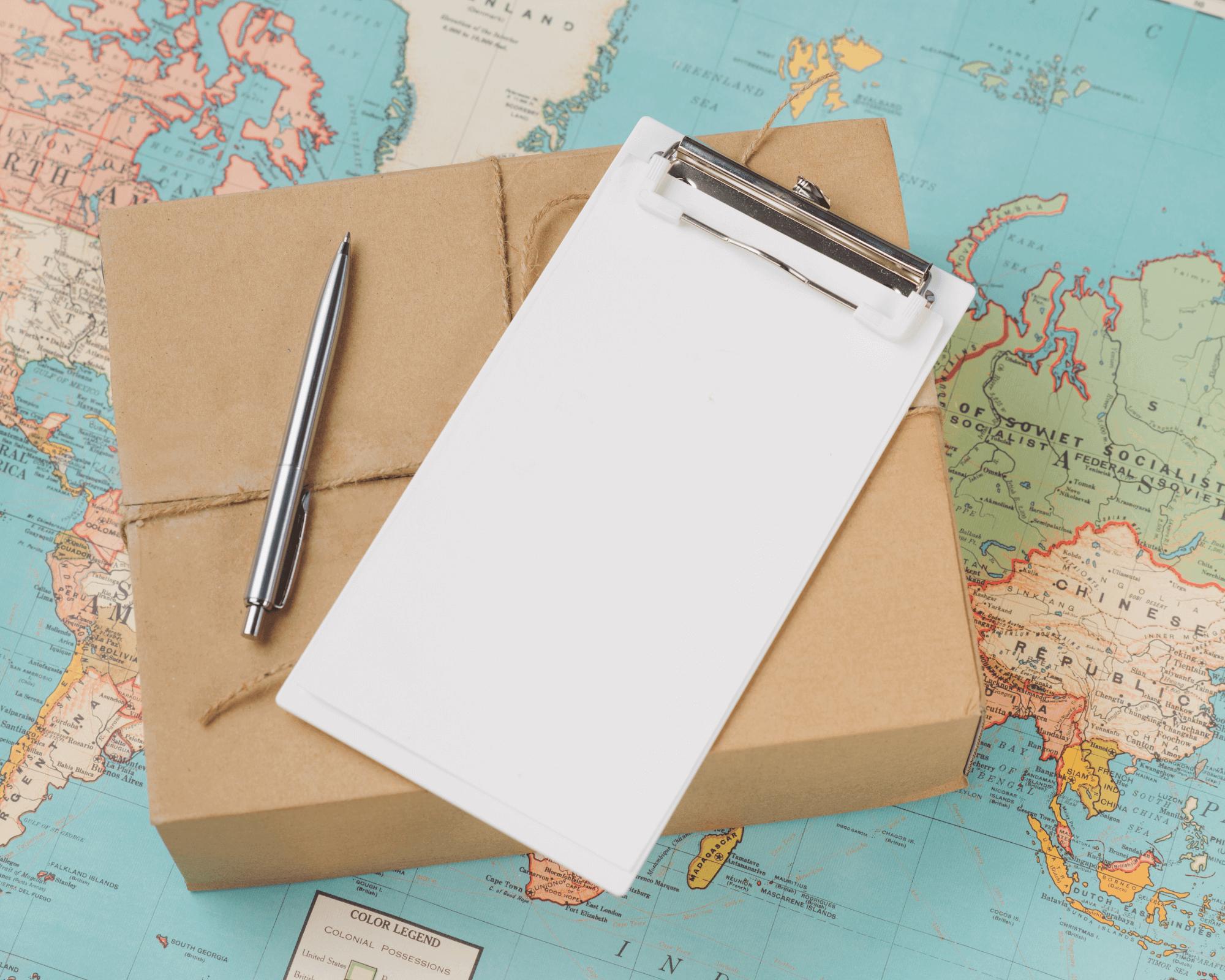 una caja resistente para hacer envíos internacionales