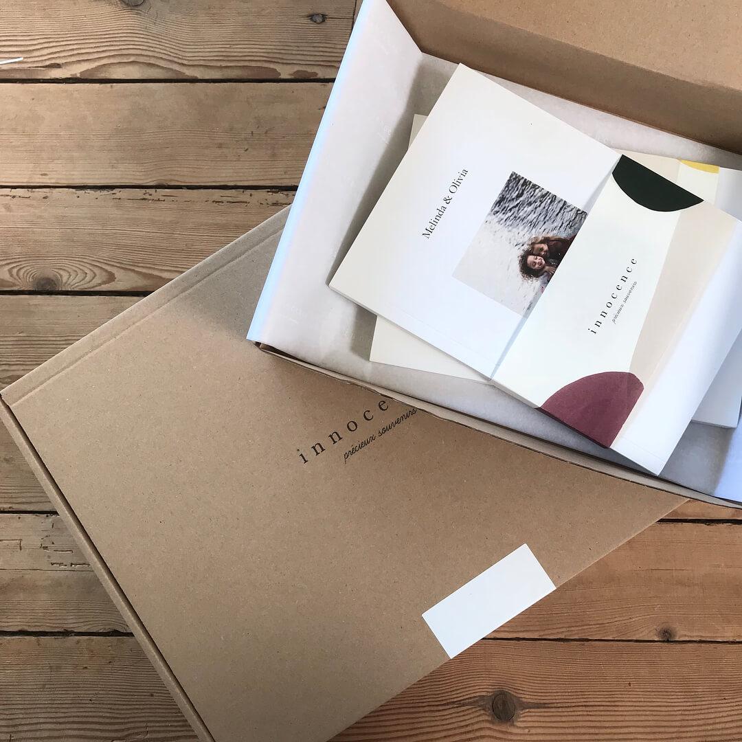 caja de carton de la empresa innocence paris