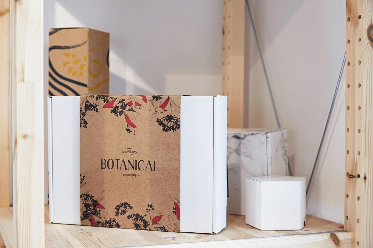 Boîtes en carton de la marque Botanical