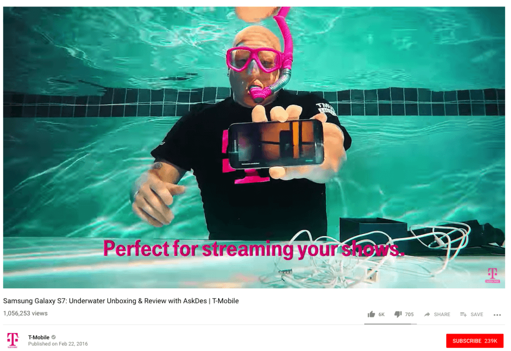 high-tech underwater unboxing experience