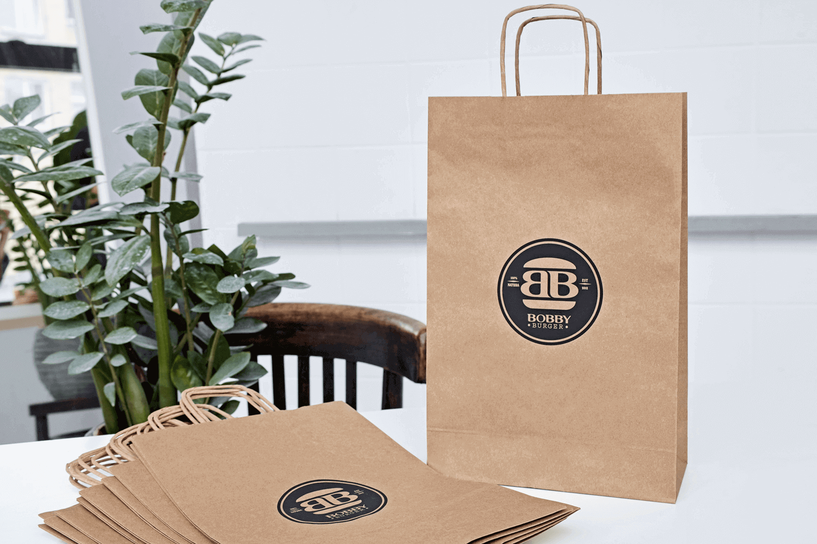 Série de sacs en papier kraft, un packaging éco-responsable