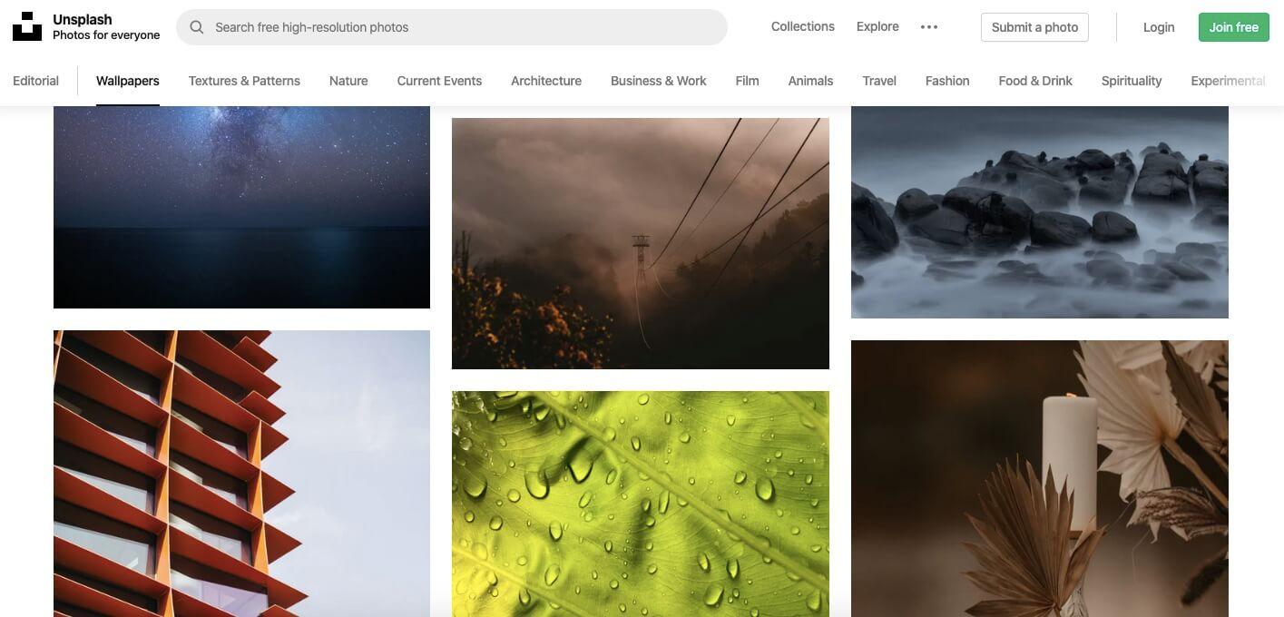 Photos sur Unsplash, la phototège de qualité et libre de droit