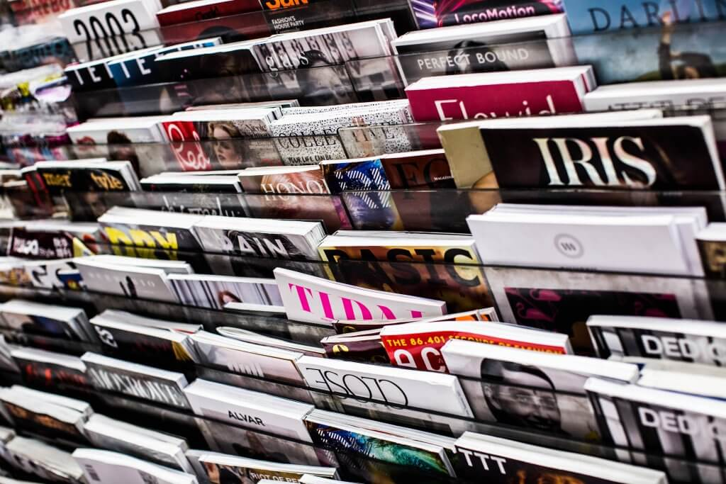 magazines sold on a stand