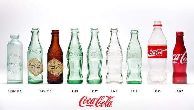 Coca Cola siempre apuesta por el rediseño de packaging de sus botellas
