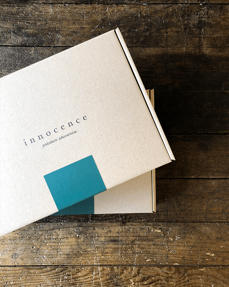 Packaging minimaliste Innocence Paris