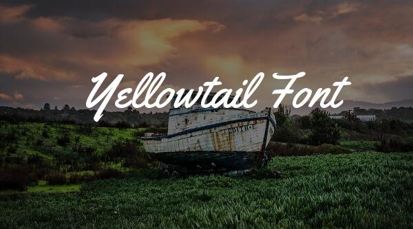 YellowTail es una de las tipografías para packaging más populares entre los diseñadores gráficos