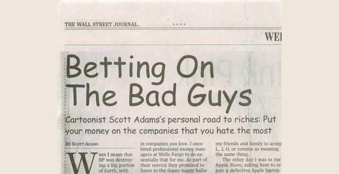 Un periódico escrito con la fuente Comic Sans