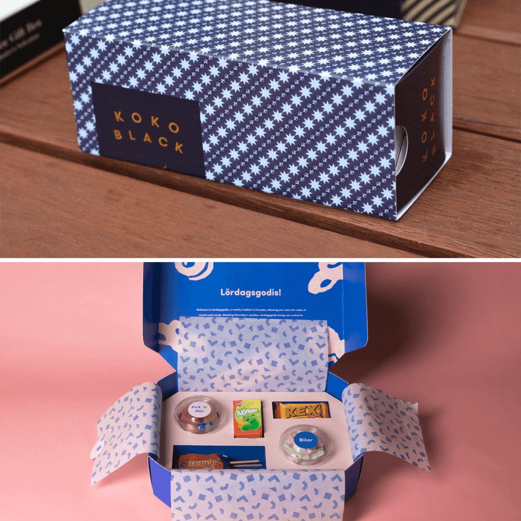 Packaging de Noël compartimenté