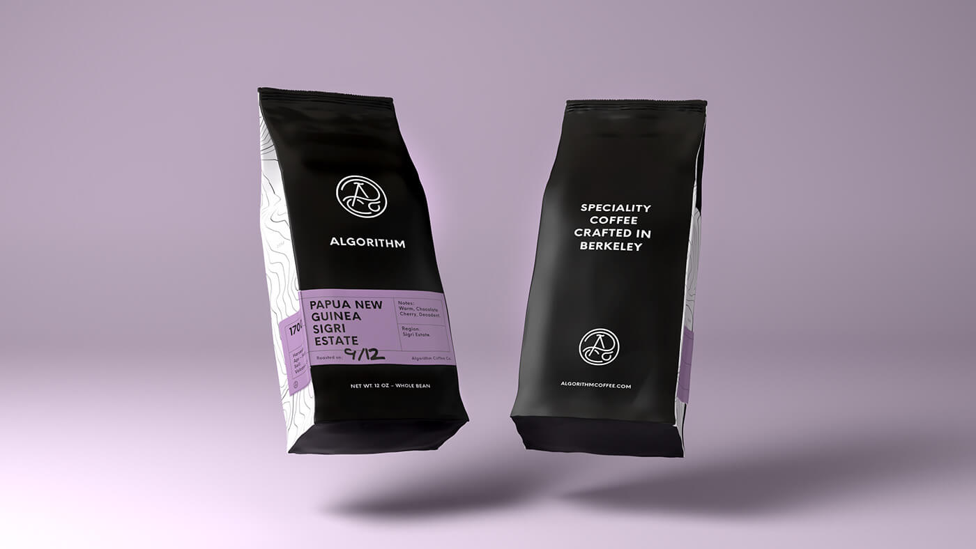 black and purple in packaging design