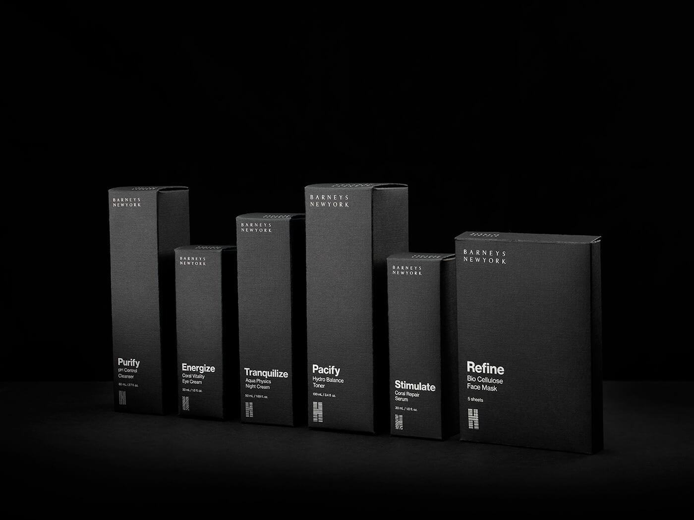 Boîtes produit noires de Barneys New York