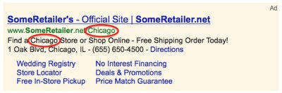 google retailer location