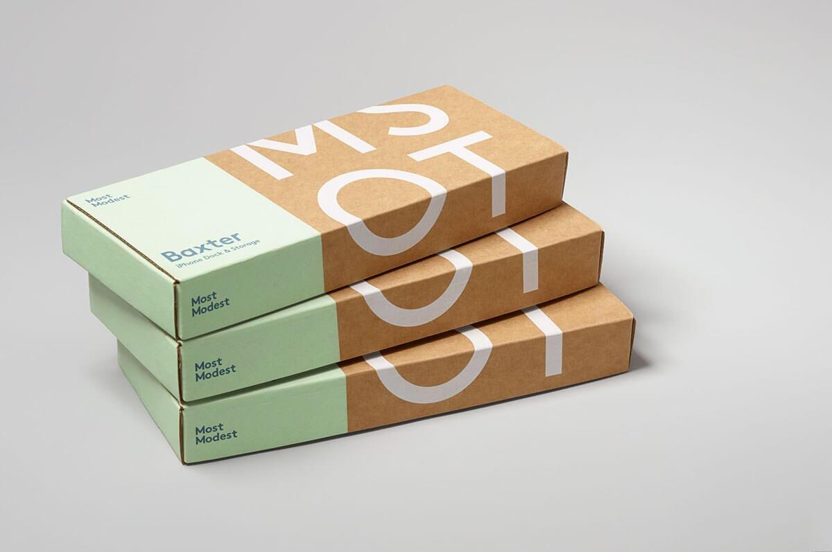 cajas blancas y de cartón kraft