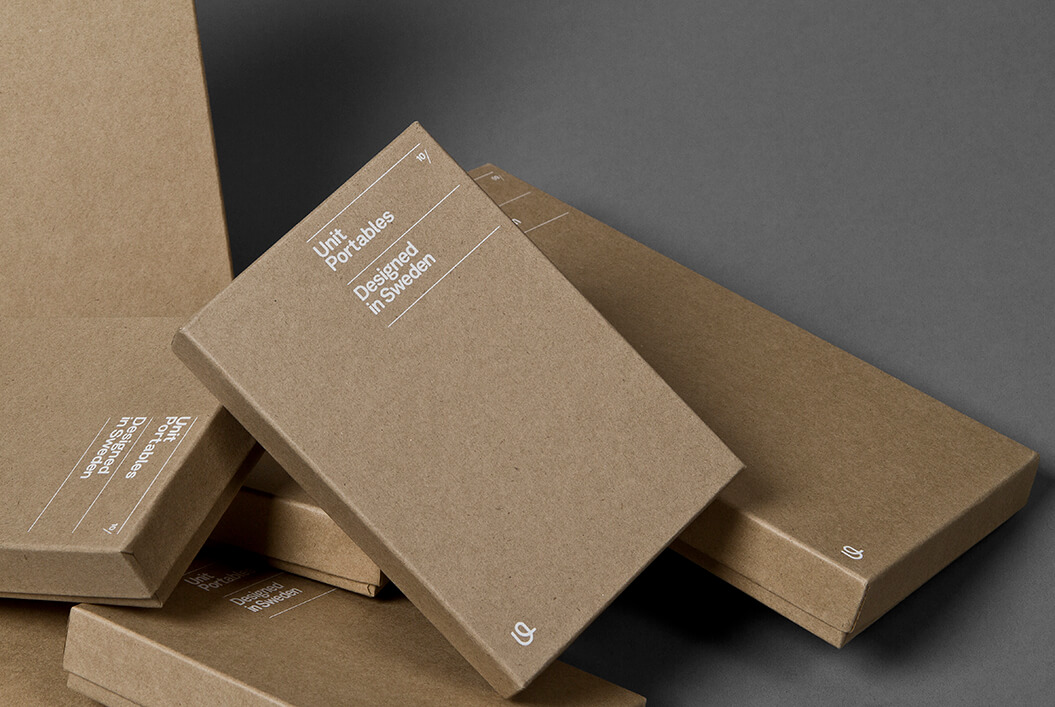 minimalist design on carton boxes