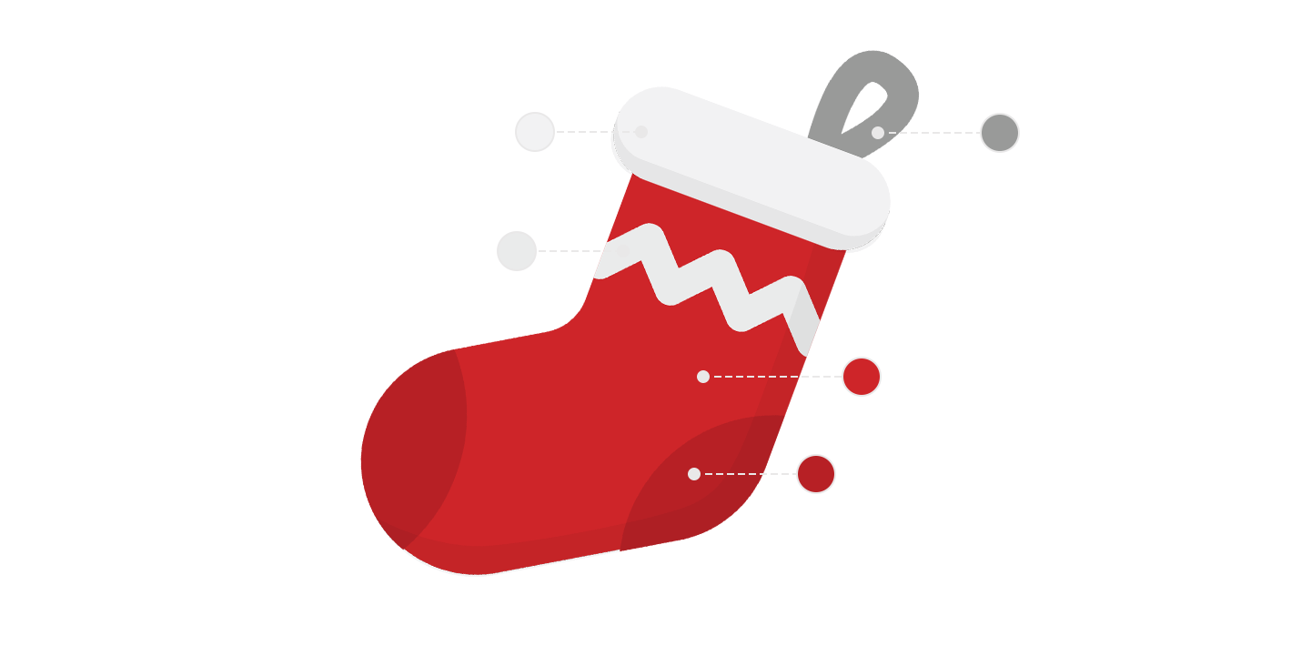 red christmas sock pictogram