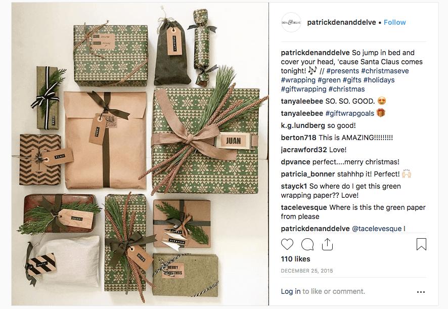 Ensemble d'emballages rustiques avec des couleurs marron, beige et verte