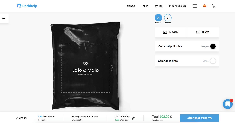 poli sobre negro de la marca Lalo & Malo