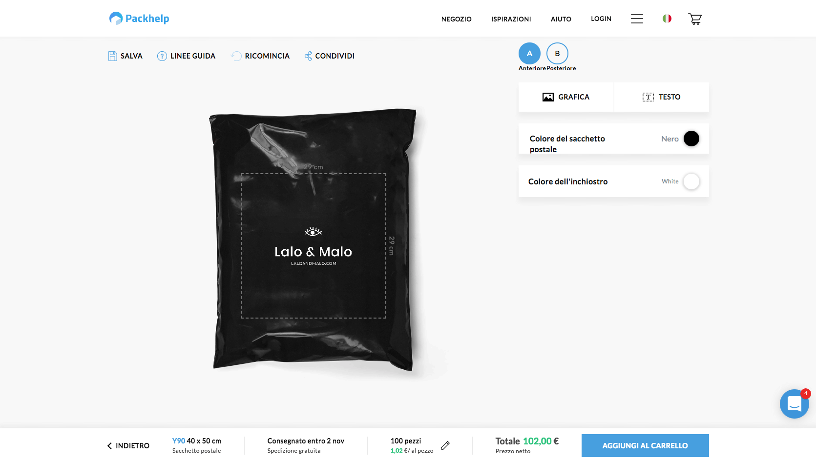 sacchetti con stampa packhelp