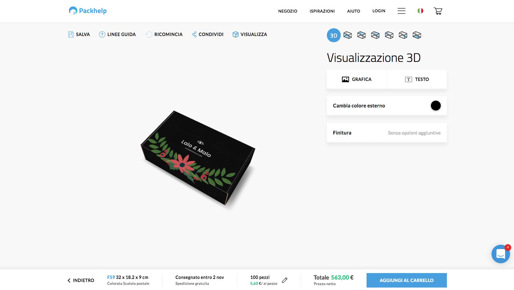 scatole per prodotti con stampa