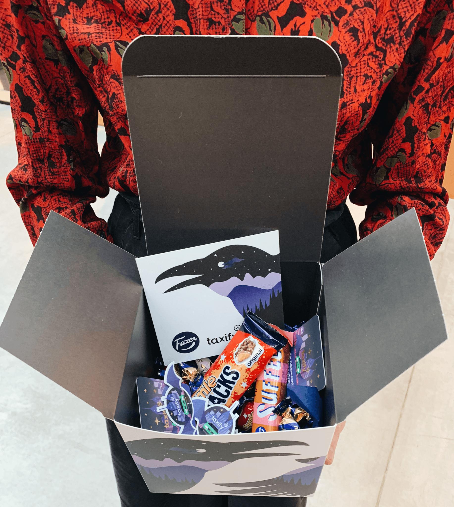 scatola personalizzata di Taxify per Halloween