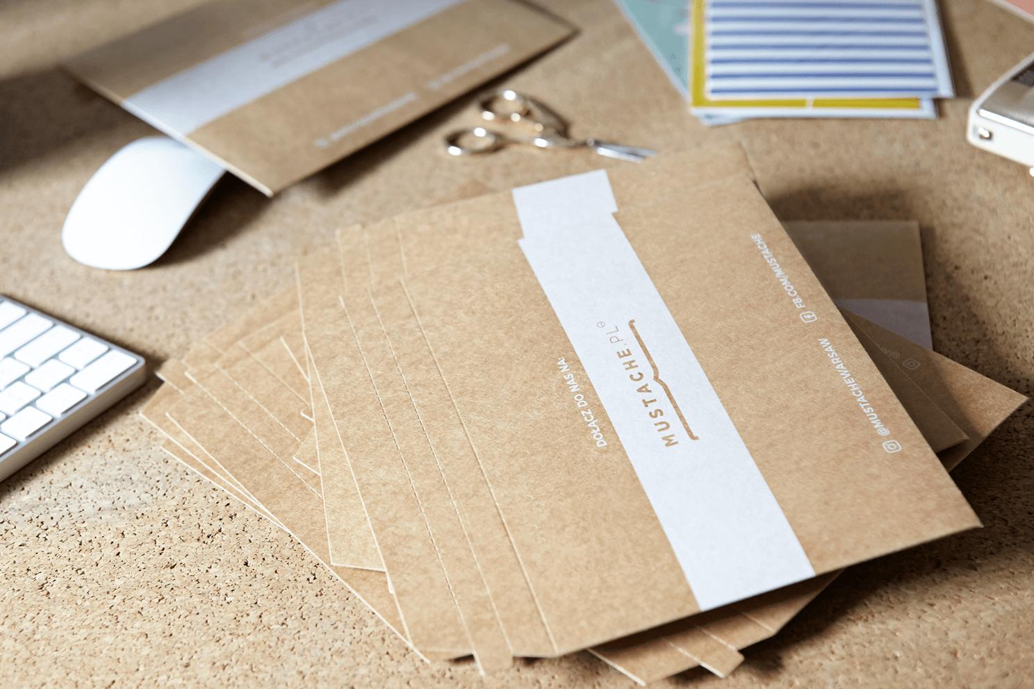 buste di cartone con stampa