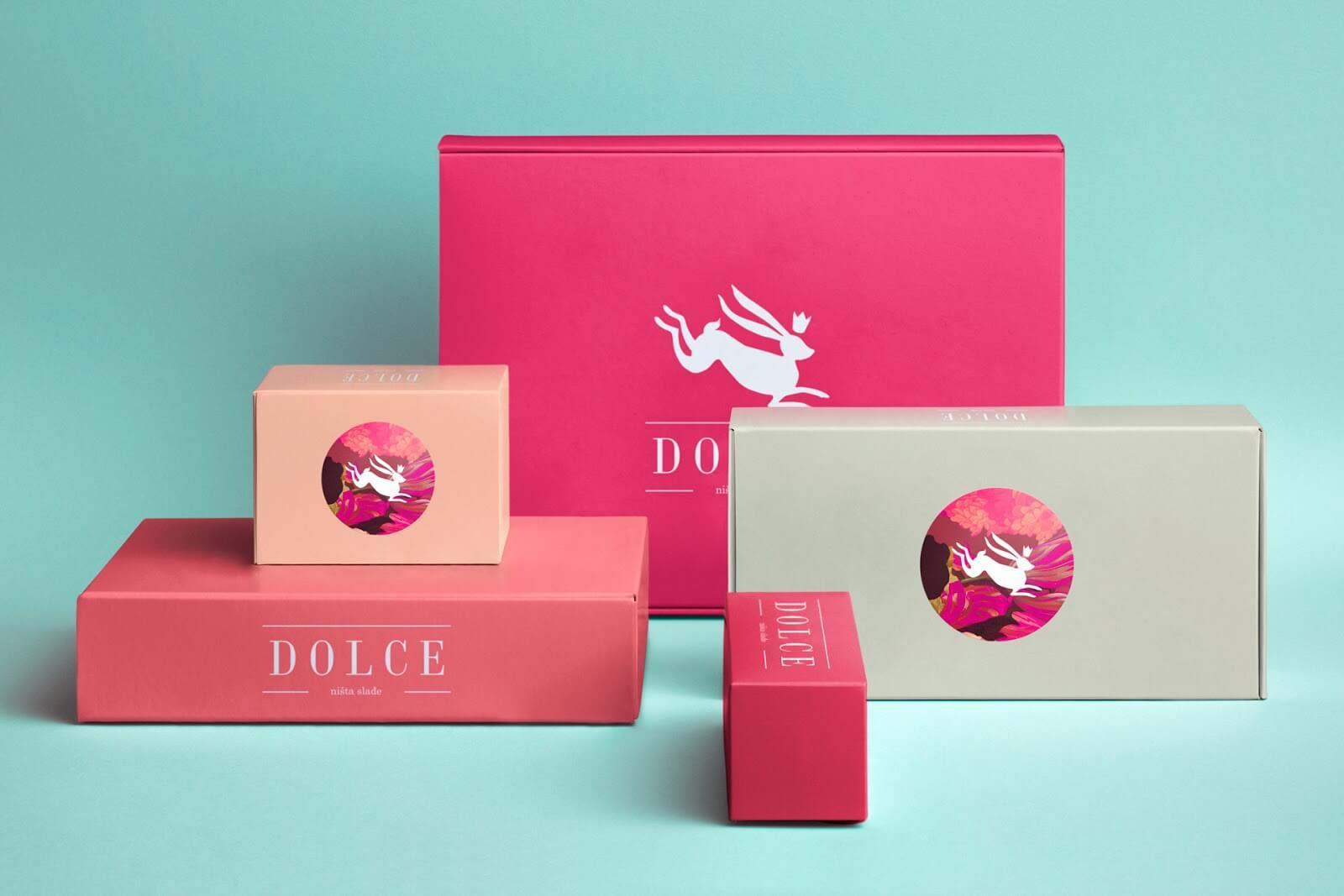 originální krabičky růžová barva