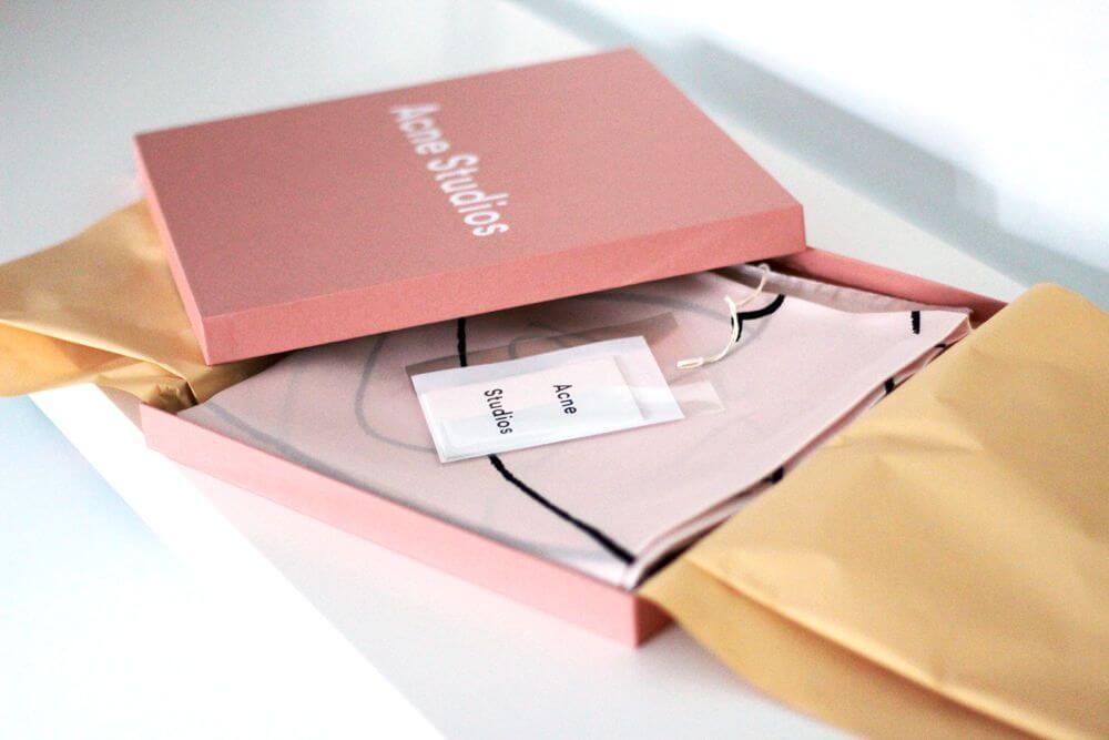 scatola per prodotti