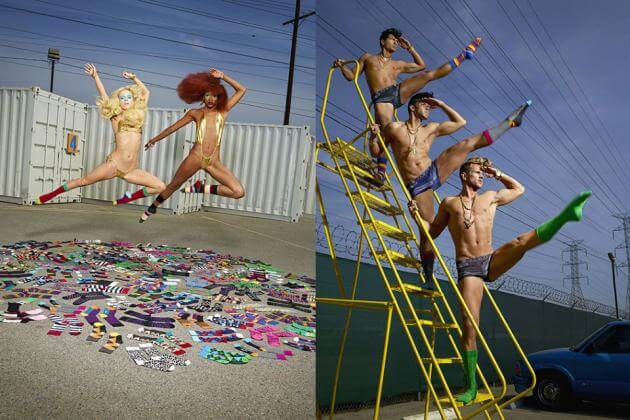 Publicité Happy Socks faite par David La Chapelle