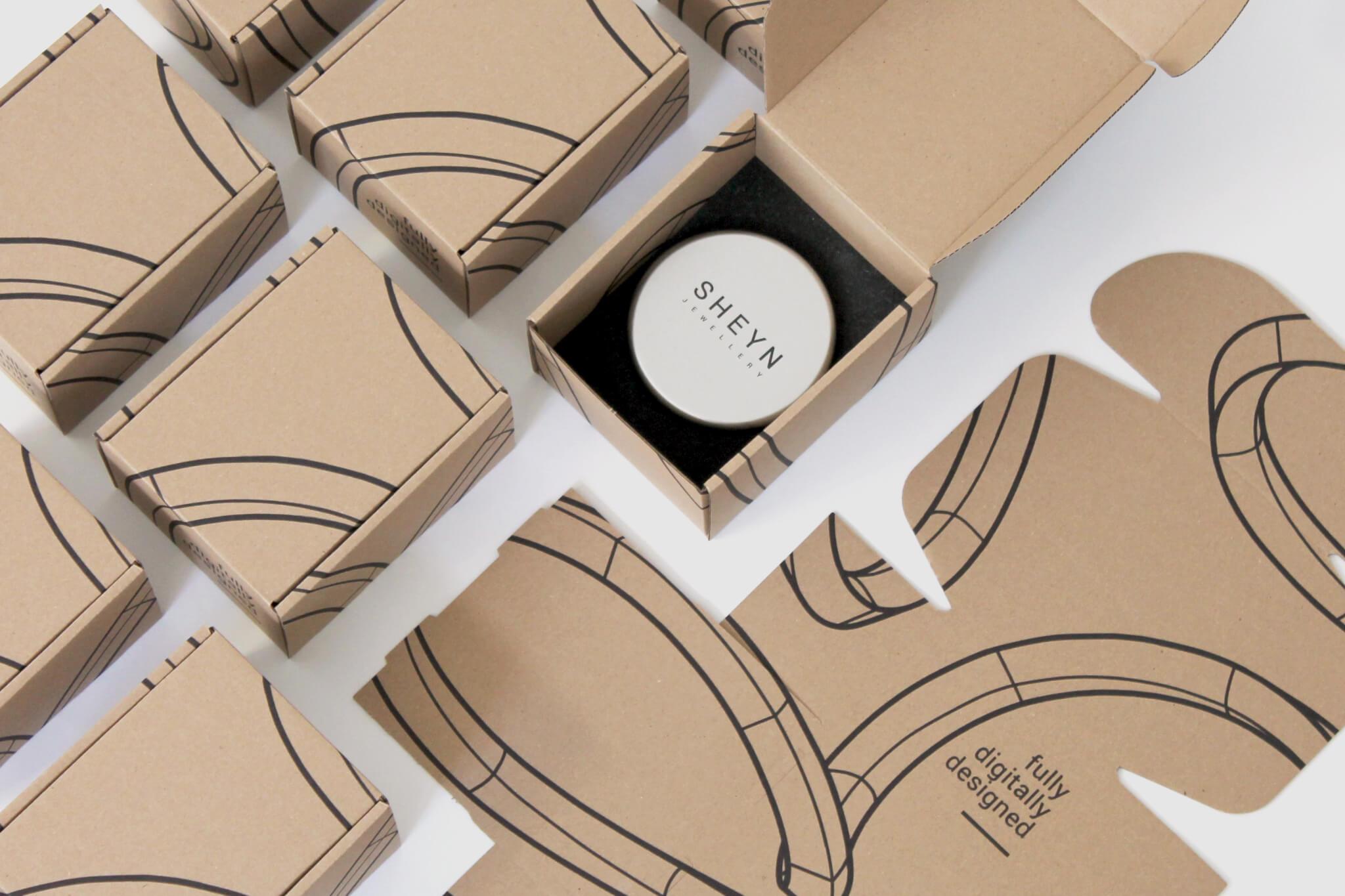 Petites boîtes en carton de luxe pour les bijoux Sheyn
