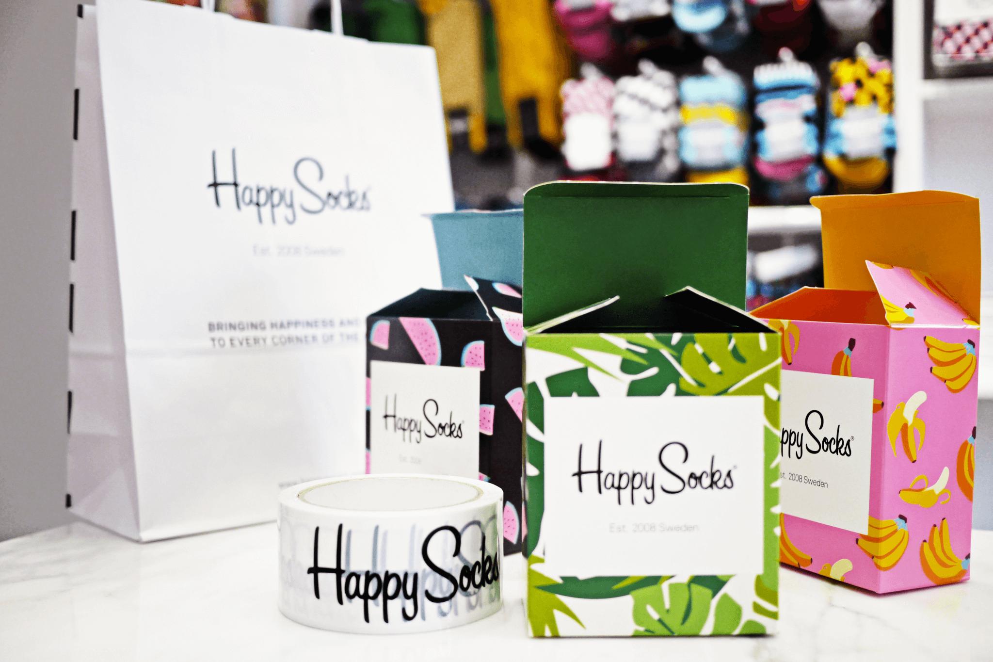 opakowania kartonowe - zestaw Happy Socks