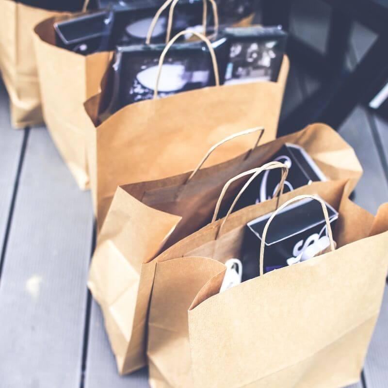bolsas de cartón para transportar artículos
