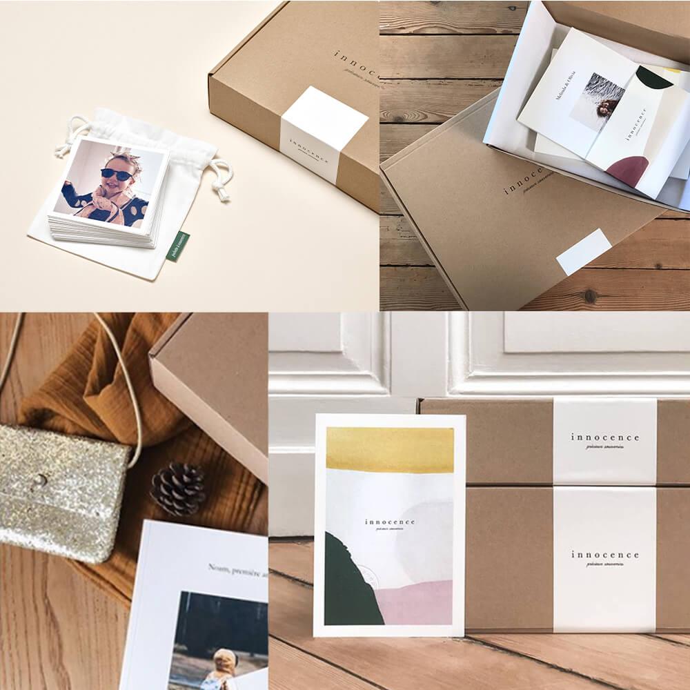 Boîtes d'emballages de Innocence Paris