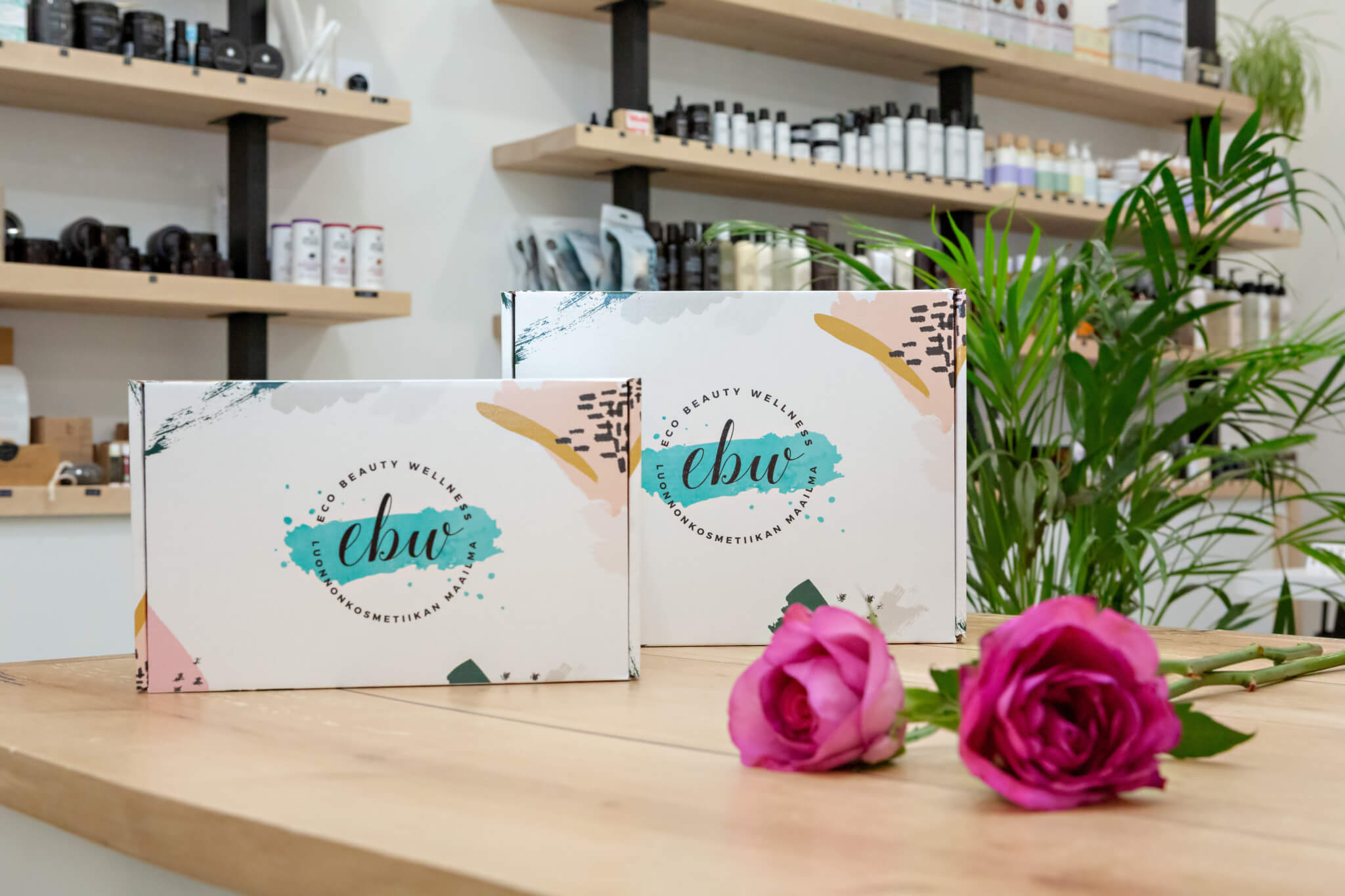 packaging of eco beauty wellness