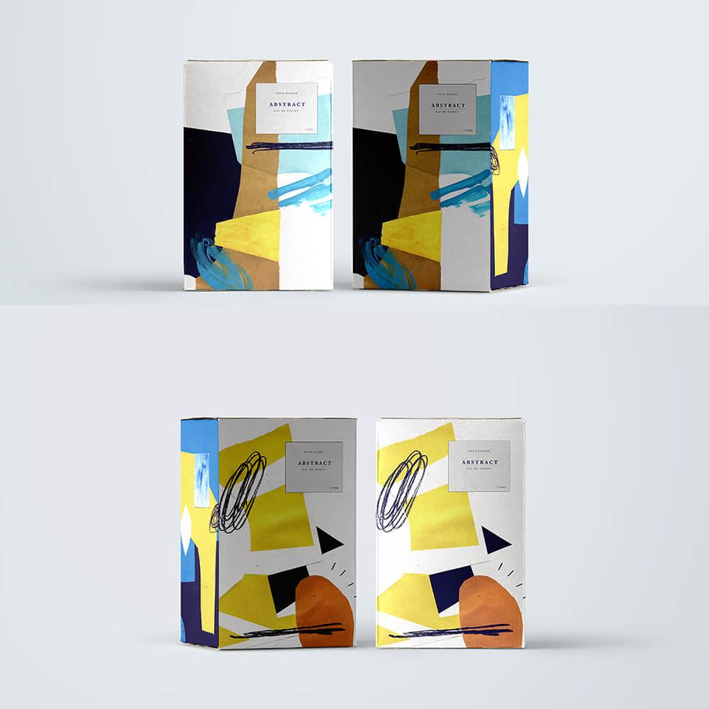 Design d'emballage abstrait