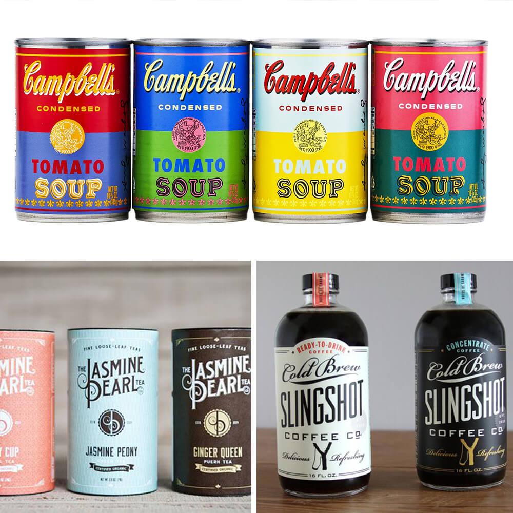 Design d'emballage vintage