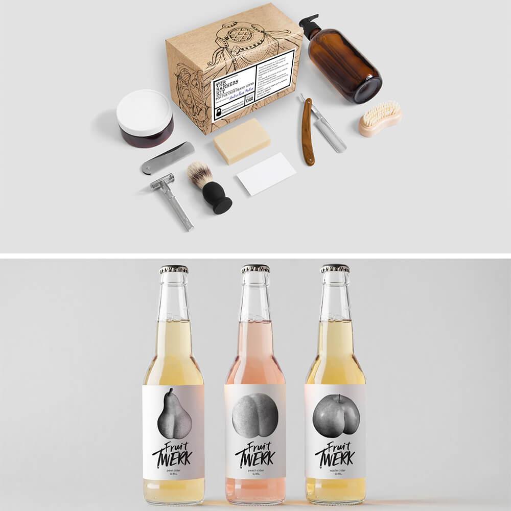 Design d'emballage contemporain