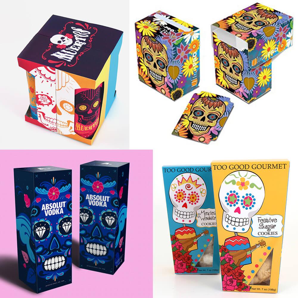 Design d'emballage inspiré par El Dia de los Muertos