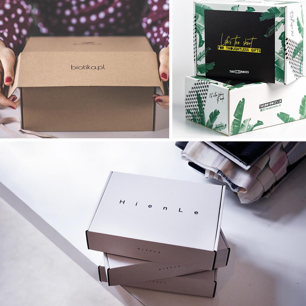Boîtes d'emballage en carton