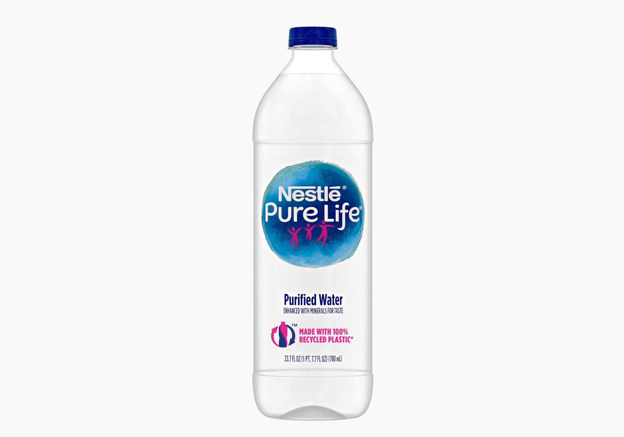Bouteille d'eau en plastique recyclable de Nestlé