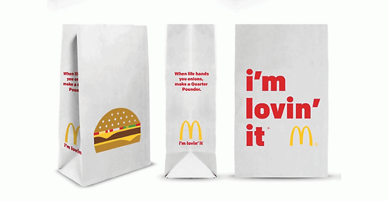 Packaging écologique en papier de Mcdonald's