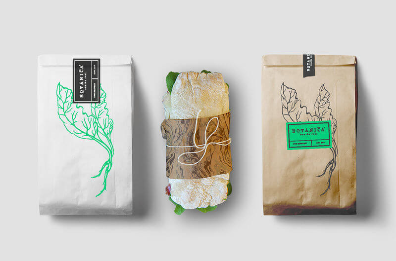 packaging verde para restaurante