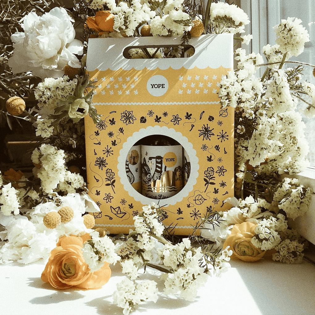 Boîte d'emballage originale avec une fenêtre de Yope