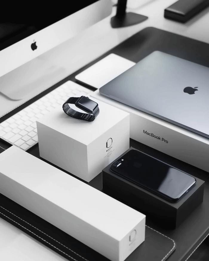 Boîtes d'emballage des produits Apple