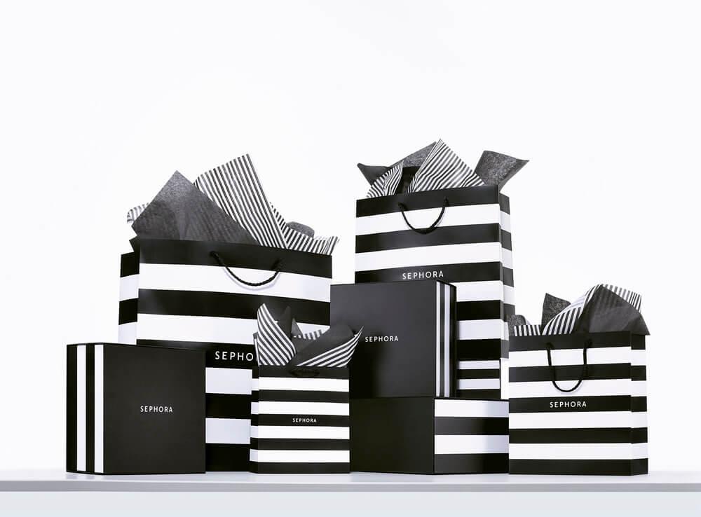 Ensemble de sacs et boîtes personnalisés Sephora