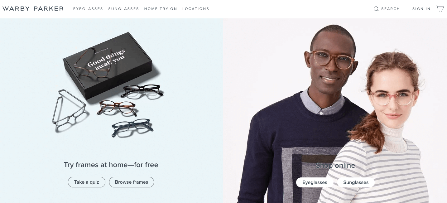 d2c direct-to-consumer warby parker
