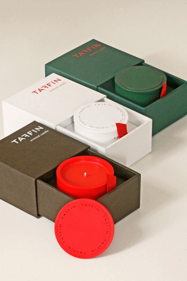 Boîte tiroir pour bougies de la marque Taffin
