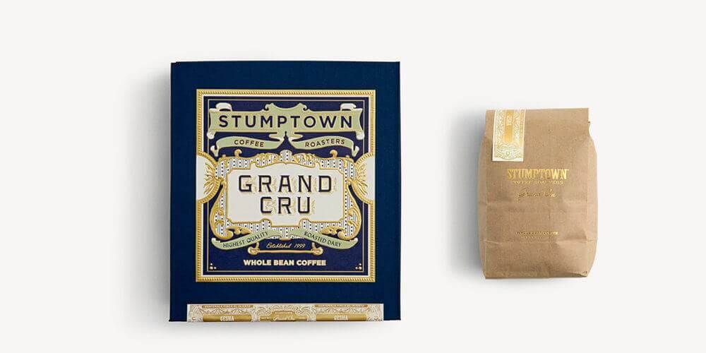 Boîte en carton sur mesure de la marque Stumptown